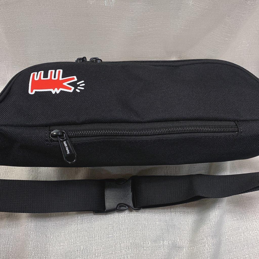 キースへリング Keith Haring ボディバッグ ウエストバッグ 人気 おしゃれ かわいい かっこいい ブランド 黒 ロゴ