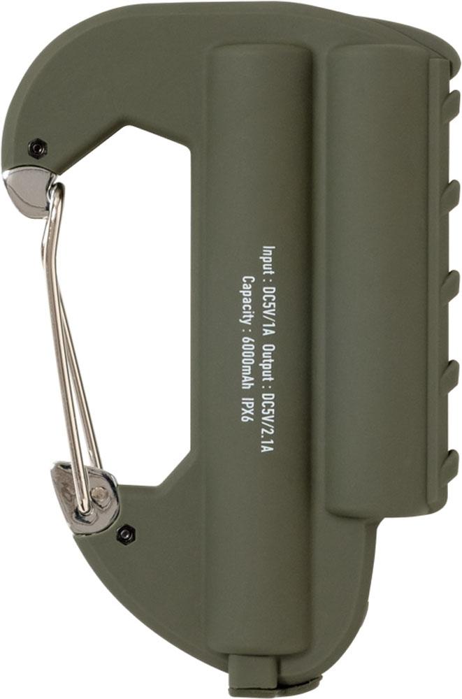 モバイルバッテリー 持ち運び充電器 カラビナ型 防水 カバンに付けられる おしゃれ かっこいい 防水 水に強い 人気 大きいサイズ 大きめ