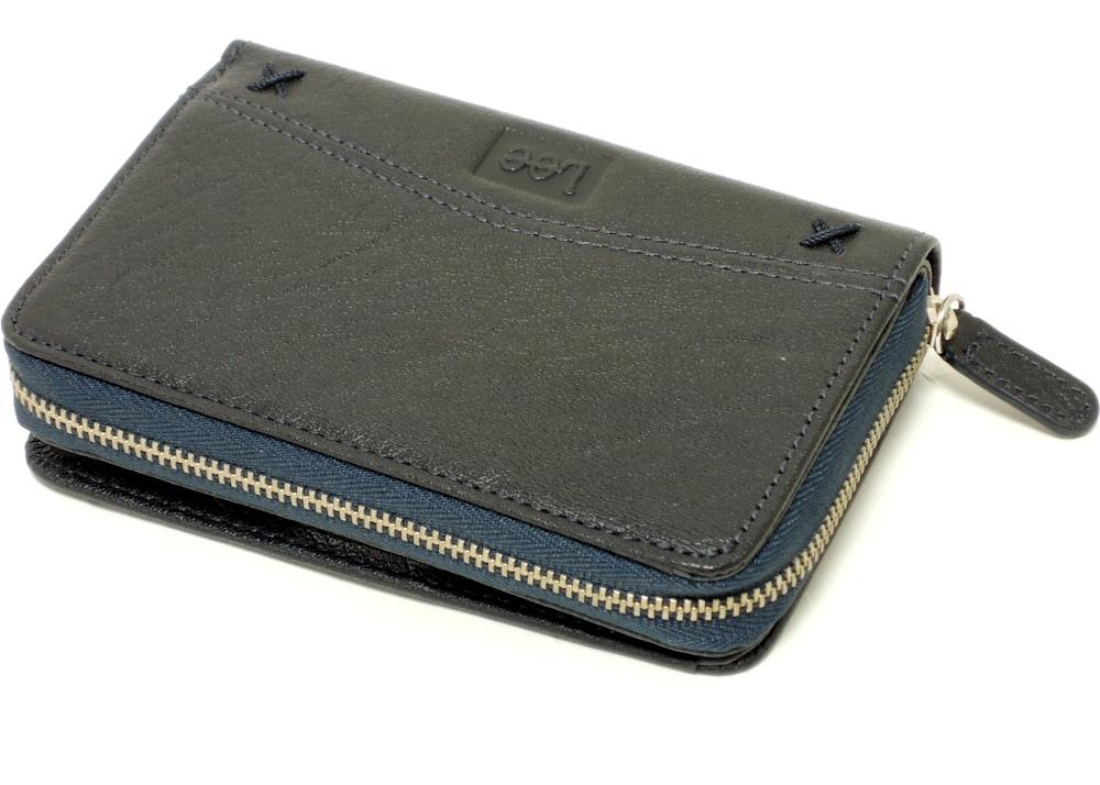 リー Lee 財布 二つ折り ラウンドファスナー小銭入れ&カード入れ付 メンズ 本革 0520315