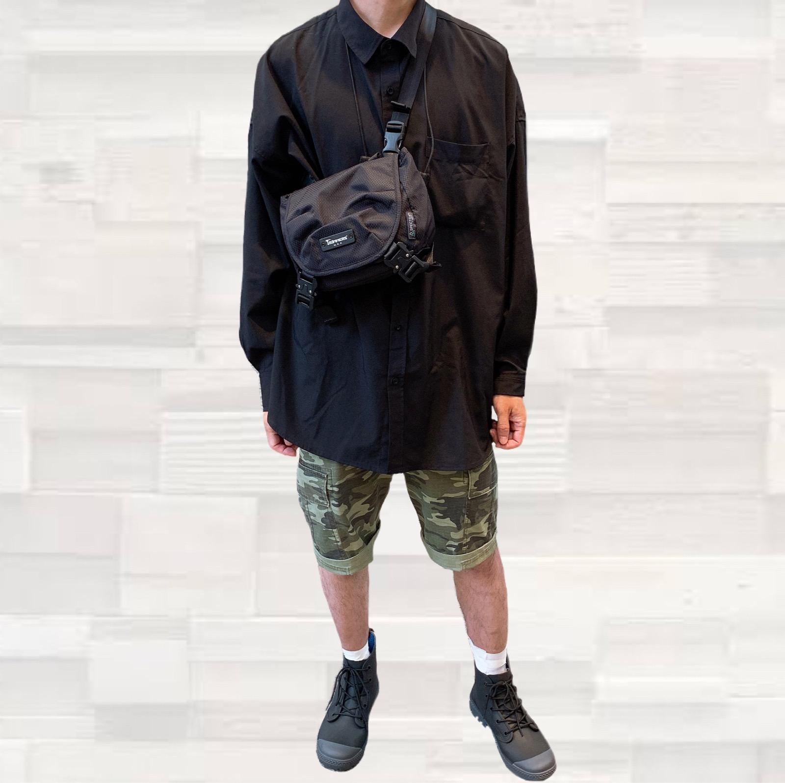 トリマーズ TRiMMERS ショルダーバッグ ななめ掛け ハンドバッグ 手持ち 丈夫 高品質 スペクトラ 軽量 撥水 旅行 カジュアル おしゃれ 防弾素材 黒