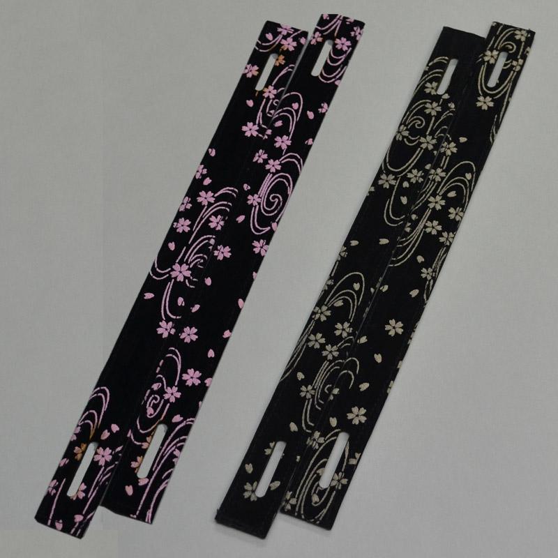 印伝風 面乳革 小桜 ピンクとベージュ