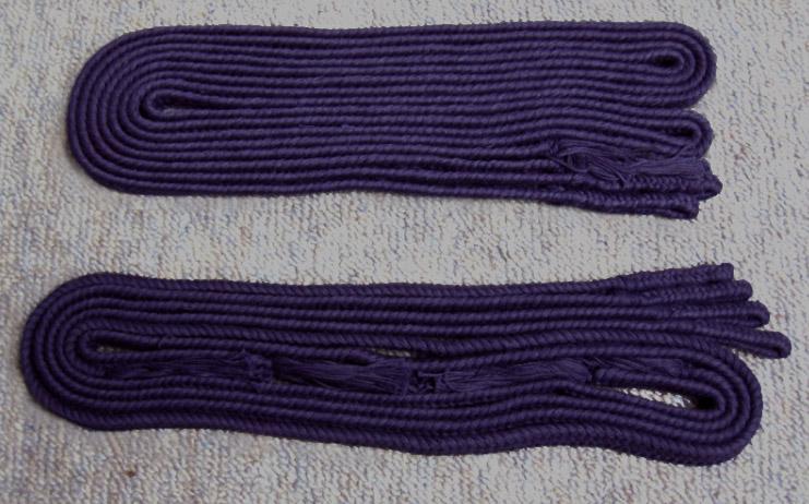 面紐・胴紐 紫