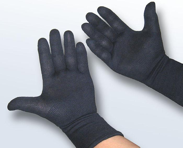 甲手下手袋 5本指 (紺)