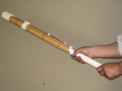 素振り用竹刀 <家庭用・道場用> 「ふりまる」小判型
