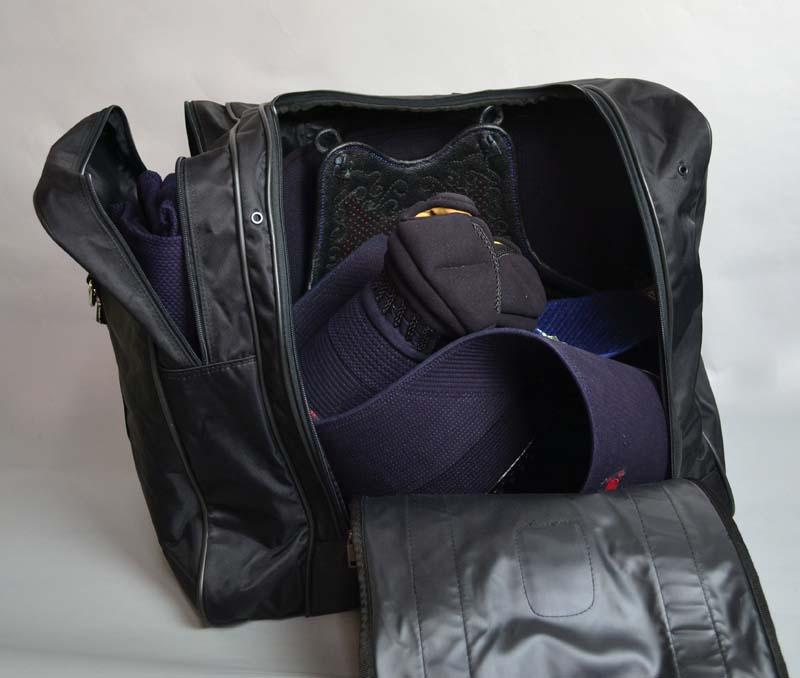 防具袋 ファッションナイロンボストン<片側ポケット付>