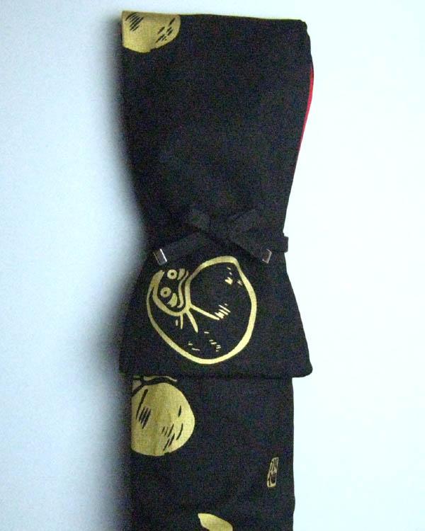 竹刀袋 略式(3本入れ) ダルマ