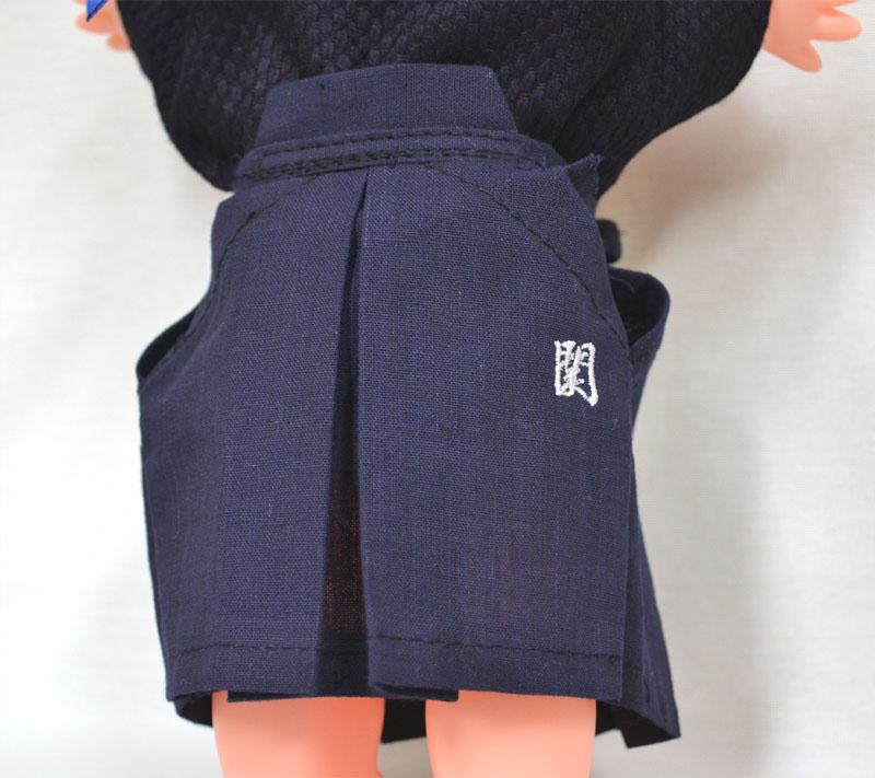 剣道キューピー人形 【鉢巻きに文字刺繍入り】