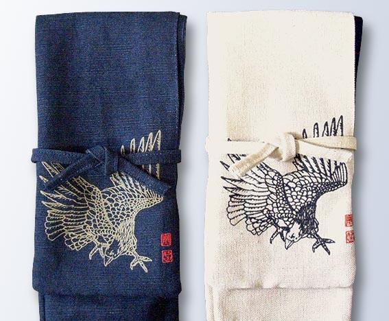竹刀袋 略式(3本入れ) ワッシャー 鷹