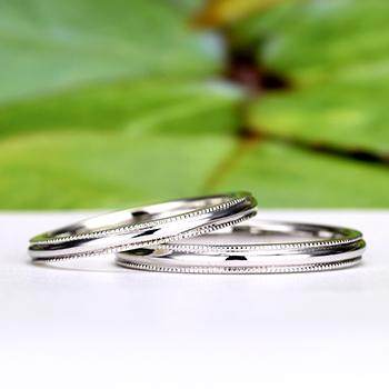 結婚指輪【Harmony Premium2 泉】Pt950H 泉の透明で眩しい水しぶきのように、ふたりが幸せで溢れますように