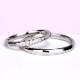 【永遠 Towa】結婚指輪 細身の上品なデザインのハーフエタニティリング プラチナ MpTRM279-280-Pt