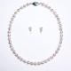 【花珠】8.5〜9.0mm高級真珠ネックレス+ピアス(イヤリング)セット