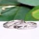 【 スーパーハードプラチナ 】結婚指輪ペア 変形やキズに非常に強く丈夫なプラチナ製の緩やかなウェーブデザインリング MpTRM231-232-Pt900SH