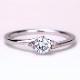 婚約指輪【天然ピンクダイヤ】が2個入った優しいウェーブデザインのリング TRE082p-25DF1