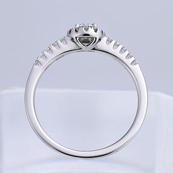 婚約指輪 【可愛い上品なお花のデザイン】  高品質プラチナダイヤモンドリング Pt ER115-0.20ct,D,VS1,3EX,H&C
