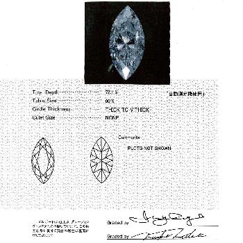 ★特別価格★ダイヤモンドペンダント  プラチナ マーキースカット1.196ct, F ,I1