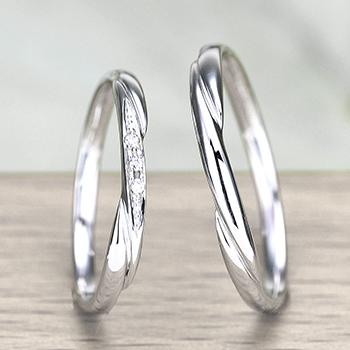 結婚指輪ペア  プラチナ製人気のデザインのお手頃なリング  MpTRM075-076-Pt900
