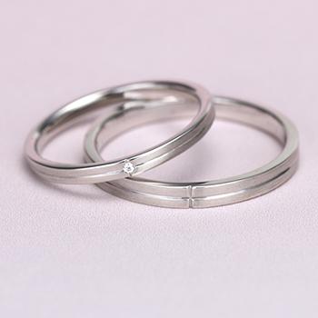 結婚指輪ペア  プラチナ  スマートな中央のライン!MpTRM309-310-Pt