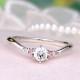 ★特別価格☆婚約指輪  脇にピンクサファイアとメレダイヤが2個ずつ入った、V字の細くて優しい雰囲気の指輪  0.2ct,F,VS2,3EX,H&C