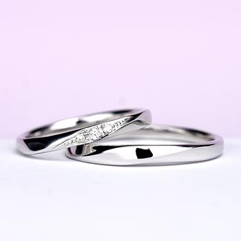 結婚指輪ペア プラチナ製人気のデザインのリング  MpTRM177-178-Pt900