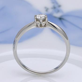 婚約指輪  人気のシンプルデザインプラチナ製高級ダイヤモンドの指輪 E1007-20DF1