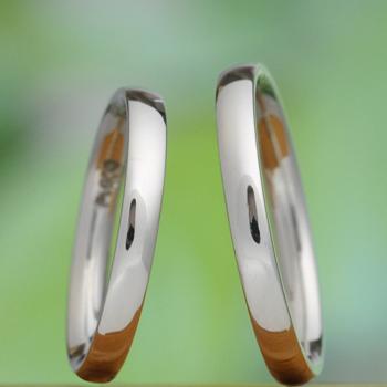 【 匠 Takumi 手作り】鍛造 プラチナ 熟練の職人さんが丁寧に手作りしたシンプルデザインの丈夫な結婚指輪ペア MpTE-HK2525