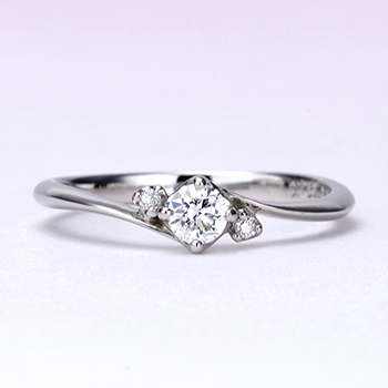 婚約指輪  プラチナ製で人気のダイアモンドリングをリーズナブルに!ESH6n201-15GH6