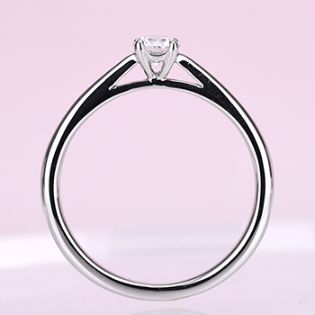 【特別価格】Pt950ハードプラチナ婚約指輪【Harmony Premium1 平和】 一日一日の小さな平和をふたりで積み重ねて、0.18,F,SI2,G