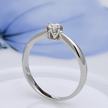 婚約指輪  お得♪人気のシンプルプラチナ製ダイヤモンドリング E1007-18F-H6