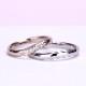 結婚指輪ペア 【 鍛造 】女性用は珍しい上品な淡いピンクゴールド、最高級カットH&Cダイヤ入り高級リング、変形やキズに非常に強い高品質鍛造、ゆるやかなウェーブデザイン