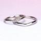【スーパーハードプラチナ】 結婚指輪ペア  変形やキズに非常に強い  緩やかなV字デザインのリング MpTRM213n-214-Pt900SH