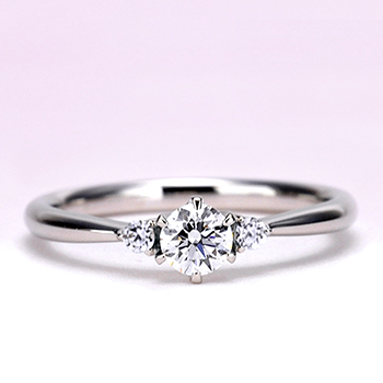 【高級!婚約指輪】0.30ct,D,VVS1,3EX,H&C, H&Cメレダイヤを使用 EG22X73h