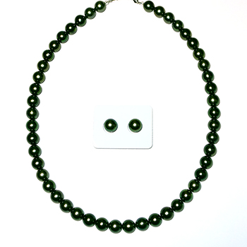 希少!高品質!黒蝶真珠ネックレス8mmストレート+ペア珠