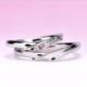 結婚指輪ペア【 最高の着け心地 】女性用は【プリンセスカット天然ピンクダイヤとH&Cカットダイヤ】で作った【 引っ掛かりのない 】高級な指輪