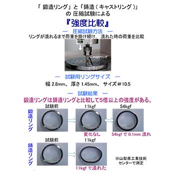 結婚指輪ペア 【 鍛造 】 変形やキズに非常に強い 鍛造リング。  ストレートデザイン