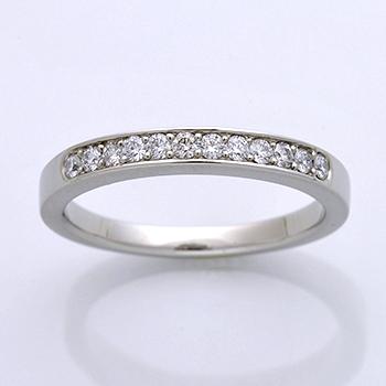 【永遠 Towa 】(高品質) ハーフエタニティーリング Pt 最高級カットH&Cの高級な指輪。 引っ掛かりが少なく丈夫な作りHE-C2004-02-hA-Pt