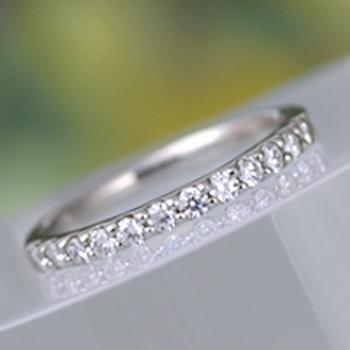 【永遠 Towa 】(高品質)結婚指輪ペア H&Cカットダイアのハーフエタニティーリング Pt900 、メンズは丈夫な手作り MpHE-F12p03-hAA-HK-Pt
