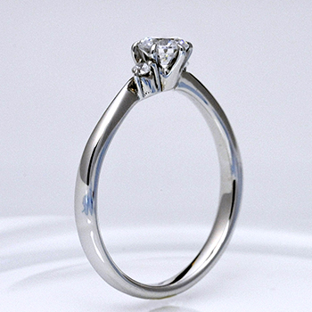 婚約指輪  エレガントなSラインの高級リング  EHa01n-25F1