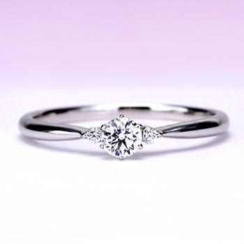 ブライダル3点セット  シンプルな人気のデザイン 高品質ダイヤモンド BsNJ116-TRM075-076-0.200.20,G,H6-Pt
