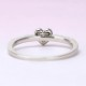★特別価格☆婚約指輪  細いきゃしゃなリングとハート形のダイヤモンドが可愛い指輪 プラチナ