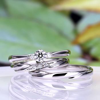 ★特別価格★ブライダル3点セット  シンプルな人気のデザイン 高品質ダイヤモンド BsNJ116-TRM075-076-0.200.20,G,H6-Pt