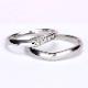結婚指輪ペア  Pt 女性用はアイスブルーダイヤが入った引っ掛かりの少ない精巧な作りの高級な指輪, MpNJ15L改n5-L