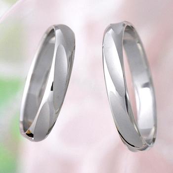 【Shine】結婚指輪ペア  Pt900 鍛造  大振りで個性的な模様の人気のデザイン  MpG1101-Pt