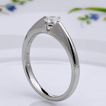 【特別価格】【 フランダースブリリアントカット】婚約指輪  高級な8角形ダイヤモンドで個性を演出♪  プラチナ