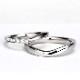 結婚指輪ペア【Gisele ジセル 約束】Pt950H(ハード)  誓いの日、やっと出会えた運命の人とふたりだけの約束を交わす。