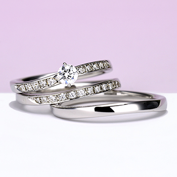 結婚指輪ペア【Lucas ルカ 光】Pt950H(ハード) ふたりを誰よりも近い場所から照らし続ける光
