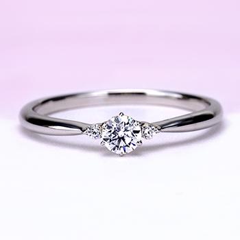 婚約指輪【 ハードプラチナ】シンプルで超高品質 脇石もH&Cカット 0.20ct,D,VVS1,3EX,H&C ENJ116h