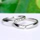 結婚指輪ペア  Pt 女性用はアイスブルーダイヤが2個入った引っ掛かりの少ない精巧な作りの高級な指輪, MpNJ15L改b2n3-L
