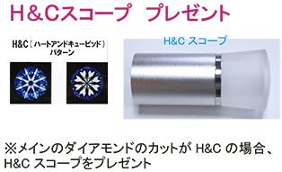 ダイアモンドペンダント  ピンクダイアとH&Cカットダイア DP-101HCp13Pt