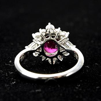高級ルビー指輪(プラチナ)
