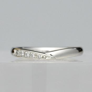 【月華 Gekka】 結婚指輪  人気の緩やかなV字リング MpKK01-PtPt